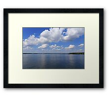 Sky, clouds and river Framed Print