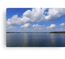 Sky, clouds and river Canvas Print