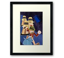 Doctor Who Adventure Time style Framed Print