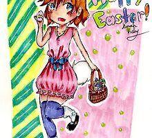 Kawaii Easter Bunny by hekelley98