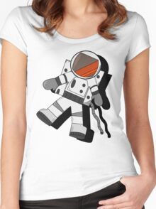 Floating Astronaut Women's Fitted Scoop T-Shirt