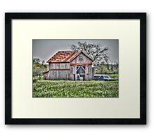 Springtime Barn Framed Print