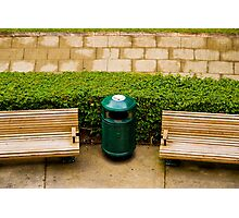 Seats in Anzac Square Brisbane, Queensland Photographic Print