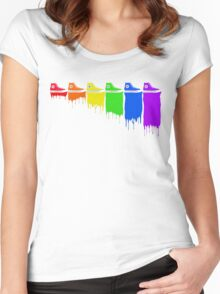 Color Kicks Women's Fitted Scoop T-Shirt