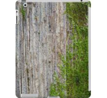 Old wooden wall with green moss iPad Case/Skin