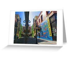 Jack Kerouac Alley Way Greeting Card