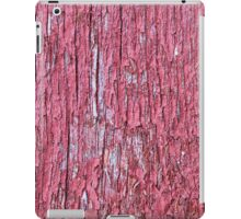 Red board wall with red paint iPad Case/Skin