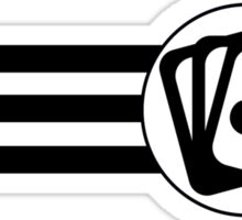 Playing Cards Stripes Sticker