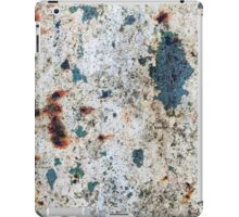 Old rusted barrel with white paint iPad Case/Skin