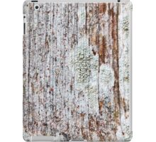 Softened board wall with white moss iPad Case/Skin