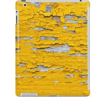 Softened plank wall with bright yellow paint iPad Case/Skin
