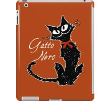 Red ribbon and Black cat iPad Case/Skin