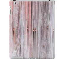 Old plank wall that used to be red iPad Case/Skin