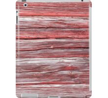 Worn horizontal timber wall iPad Case/Skin