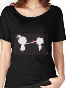 Jenny gives her heart away Women's Relaxed Fit T-Shirt