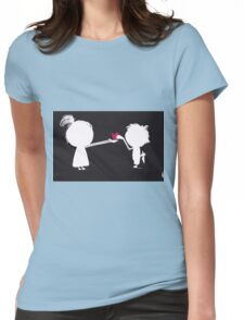 Jenny gives her heart away Womens Fitted T-Shirt