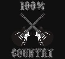 100% Country Music One Piece - Short Sleeve