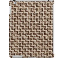 White fur and dark brown strings iPad Case/Skin