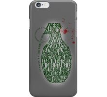 Grenade Typography iPhone Case/Skin