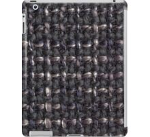 Gray, dark blue and black strings iPad Case/Skin