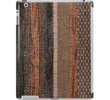 Different shapes and structures of brown and black strings in upright direction iPad Case/Skin