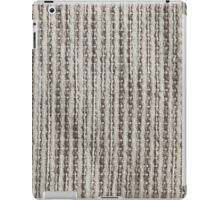 White fur and light brown strings iPad Case/Skin