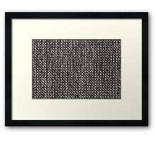 White and black strings with gray fur Framed Print
