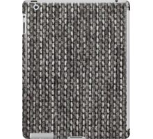 White and black strings with gray fur iPad Case/Skin