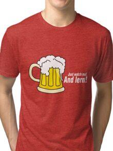 Beer white Tri-blend T-Shirt