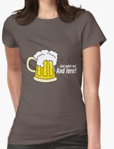 Beer white Womens Fitted T-Shirt