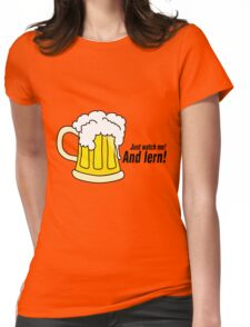 Beer black Womens Fitted T-Shirt
