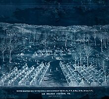 Civil War Maps 1924 Winter quarters built by the rebels now occupied by the 67th reg PV 3d Brig 3d Div 3d Corps AP near Brandy Station Va Inverted by wetdryvac