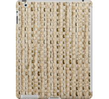 Light brown fur on a white strings base with thick golden strings iPad Case/Skin