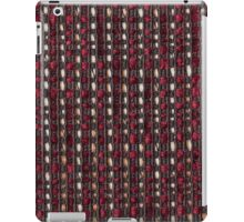 Dark red fur on a black strings base with thick white and golden strings iPad Case/Skin