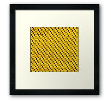 Yellow fur and black strings Framed Print