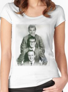 Buddy Holly and the Crickets by John Springfield Women's Fitted Scoop T-Shirt
