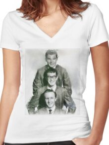 Buddy Holly and the Crickets by John Springfield Women's Fitted V-Neck T-Shirt