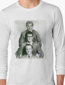 Buddy Holly and the Crickets by John Springfield Long Sleeve T-Shirt