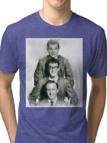 Buddy Holly and the Crickets by John Springfield Tri-blend T-Shirt