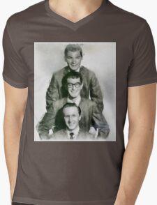 Buddy Holly and the Crickets by John Springfield Mens V-Neck T-Shirt
