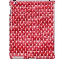 Red fur and white strings iPad Case/Skin