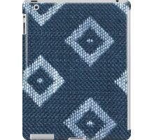 Blue strings with white squares iPad Case/Skin