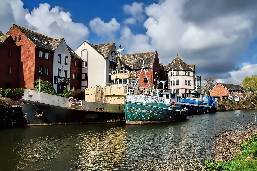 Old Boats At Exeter by Susie Peek
