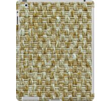 Brown and white strings iPad Case/Skin