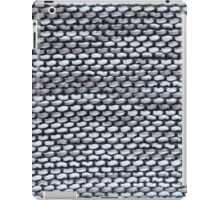 Thick white and gray strings with thin blue strings iPad Case/Skin