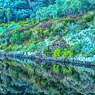 Rocks and Reflections - Khancoban Dam NSW - The HDR Experience by Philip Johnson