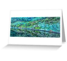 Rocks and Reflections - Khancoban Dam NSW - The HDR Experience Greeting Card