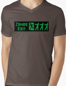 ZOMBIE EXIT SIGN by Zombie Ghetto Mens V-Neck T-Shirt