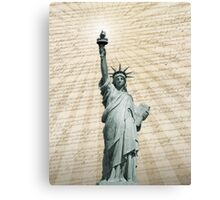 Liberty Loves The Constitution Canvas Print