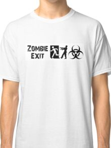 ZOMBIE EXIT SIGN by Zombie Ghetto Classic T-Shirt